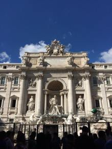 The Trevi Fountain in Rome, unfortunately under construction while we were there.