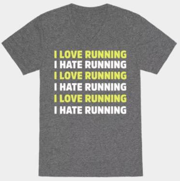 Love Hate Running Tshirt