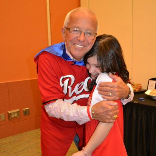 A Dragonfly with Marty Brennaman from the Reds at Reds Fest