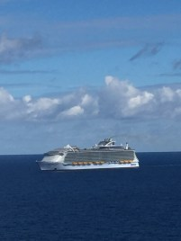 We passed our sister ship, the Harmony of the Seas