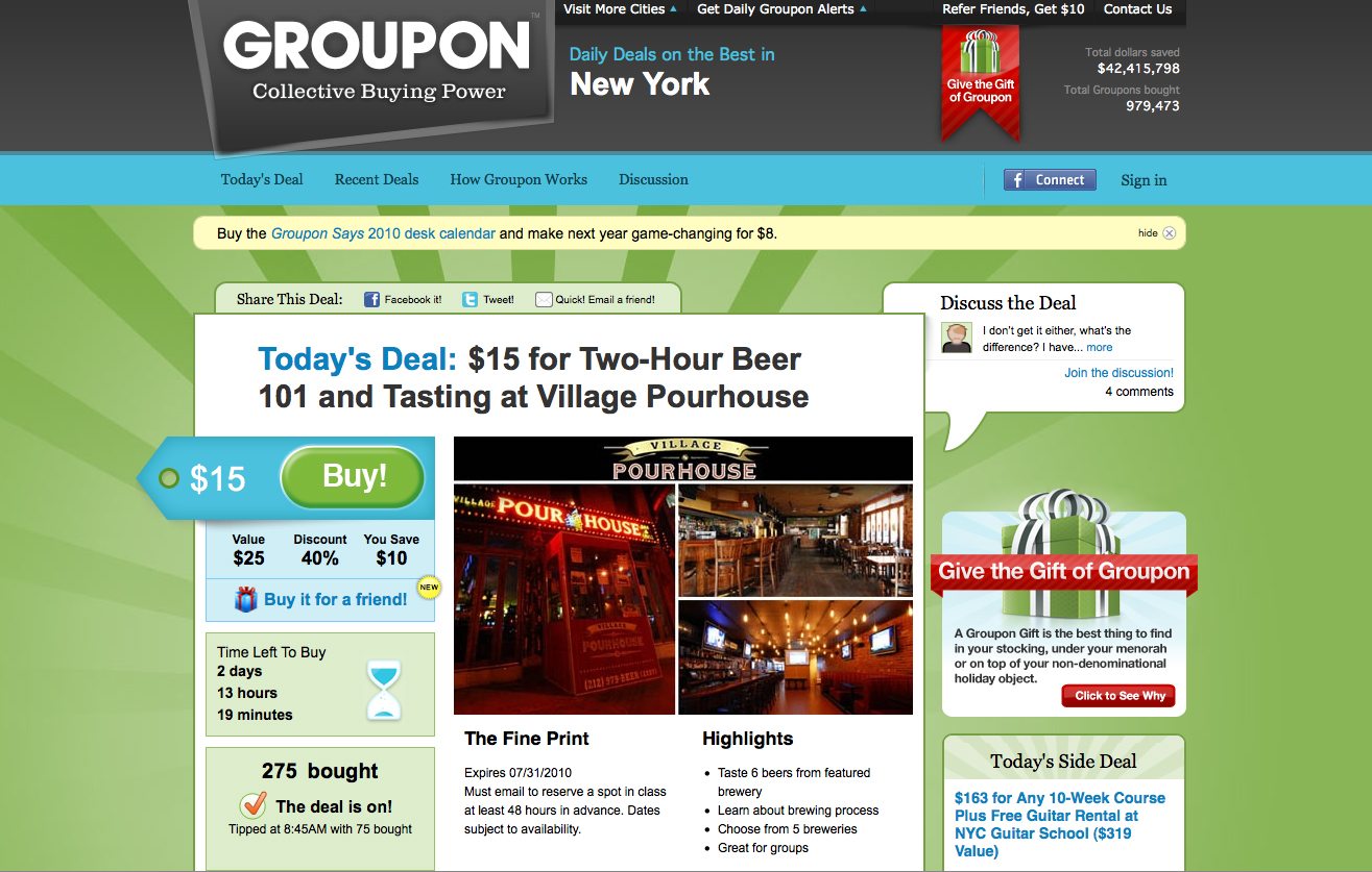 groupon the dragonfly effect