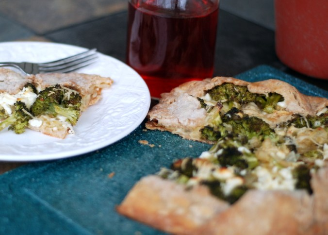broccoli galette on plate 2