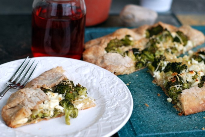 broccoli galette on plate 1