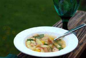 potato and white bean soup