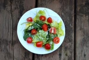 salad on porch