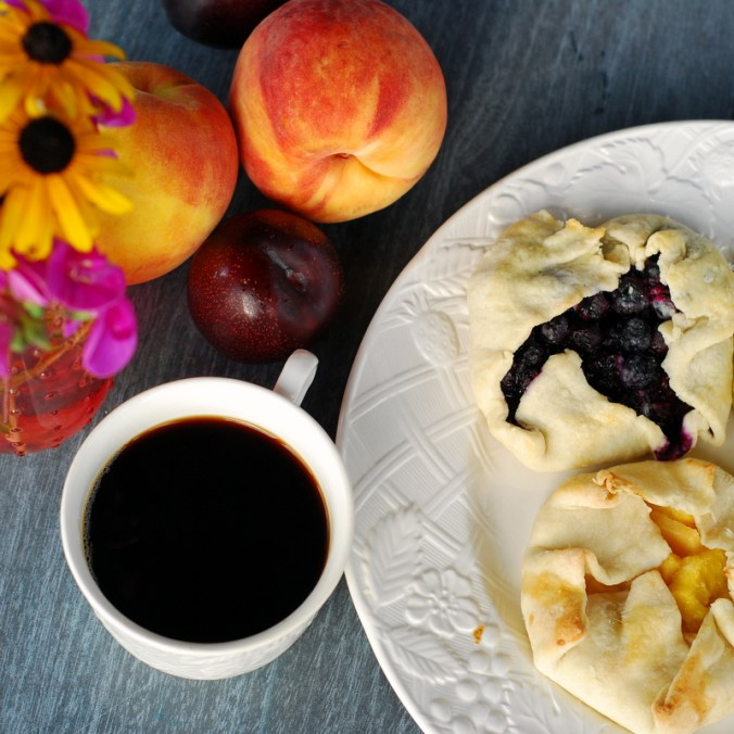 galettes with coffee
