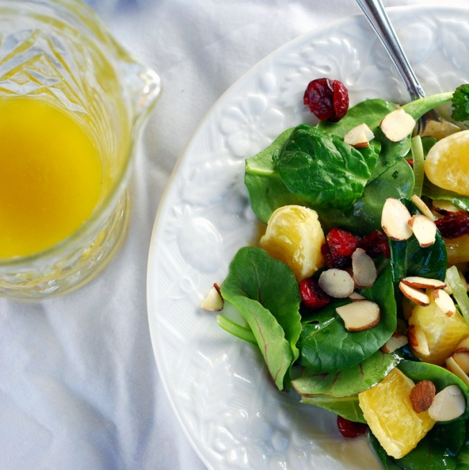 winter salad with dressing
