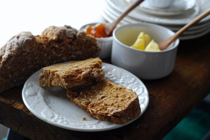 soda bread against white