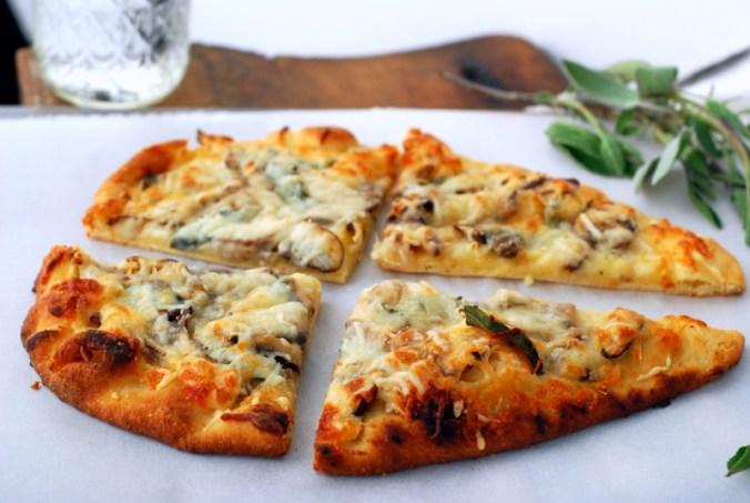 mushroom pizza with sage
