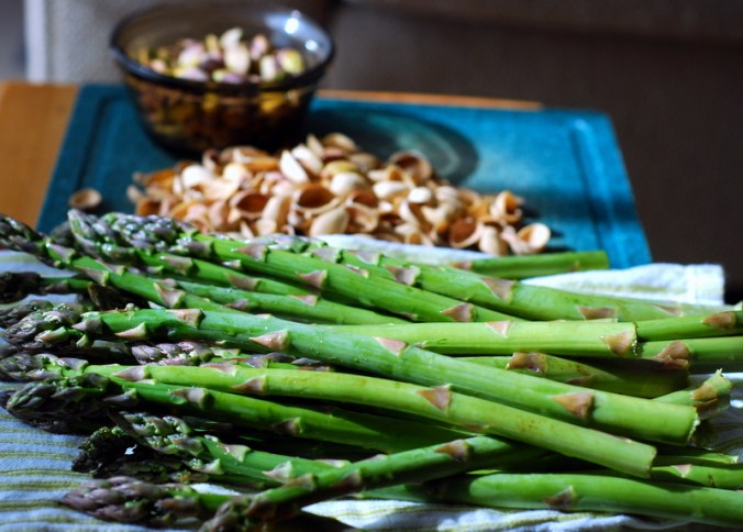 asparagus and pistachios