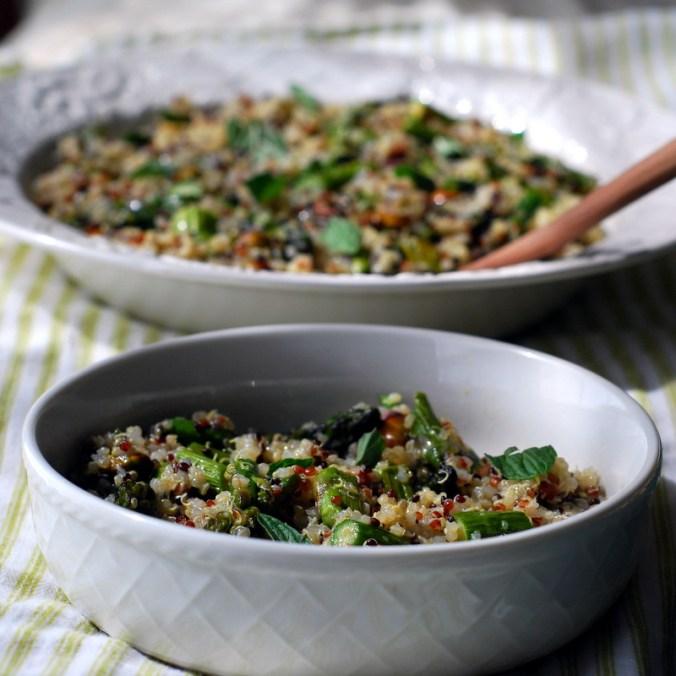 asparagus quinoa salad 1