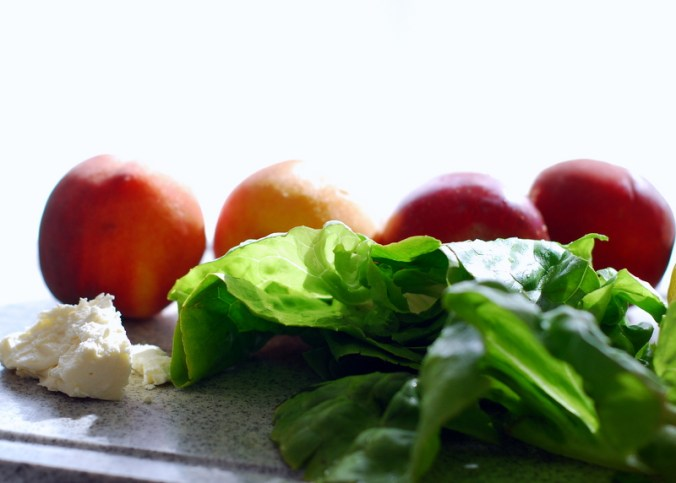 peaches and greens