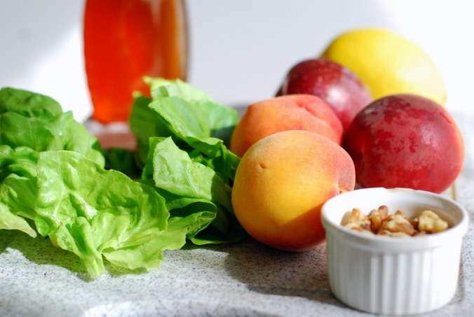 peach-plum salad ingredients