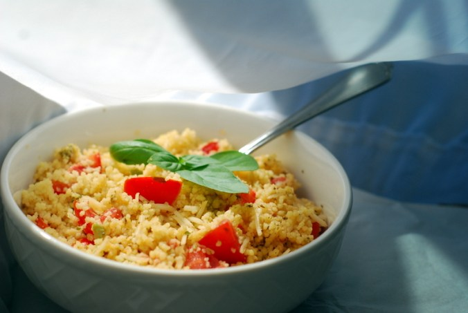 tomato and pesto couscous