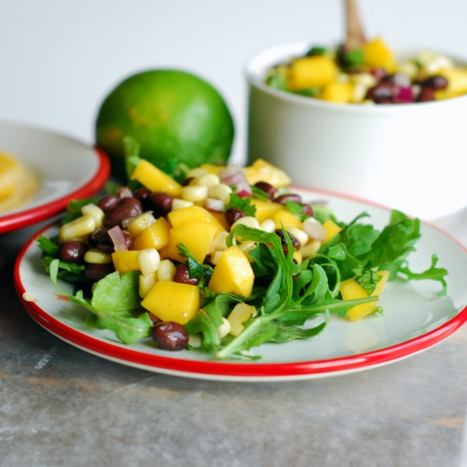 black bean-mango salsa