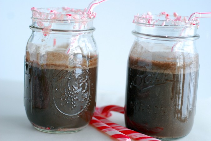 chocolate peppermint smoothies