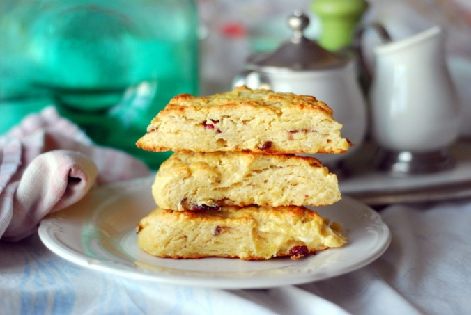 cranberry ricotta scones stack 11820