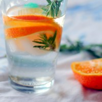 Festive Orange Rosemary Water