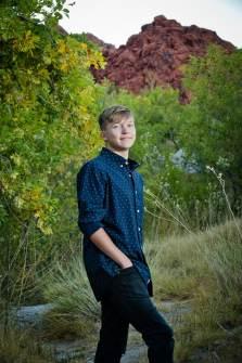 31_best high school senior photos, las vegas red rock canyon mountains, guy senior photography