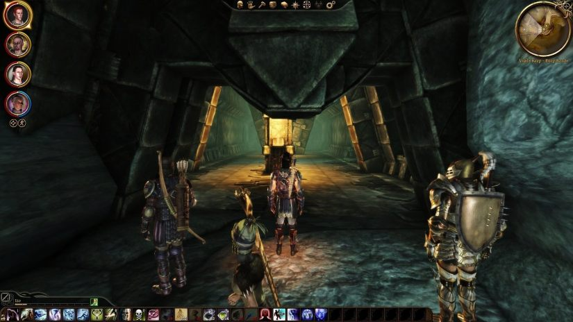 My rogue warden and his party in Dragon Age: Awakening