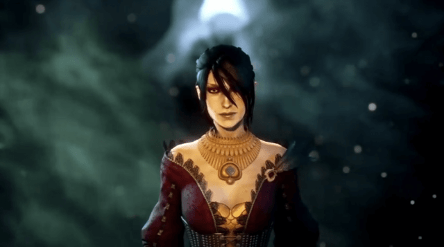 In-game Screenshot of Morrigan from DA: Inquisition.