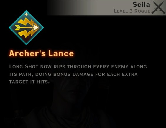 Dragon Age Inquisition - Archer's Lance Archery rogue skill