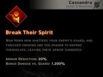 Dragon Age Inquisition - Break Their Spirit Battlemaster warrior skill