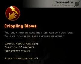 Dragon Age Inquisition - Crippling Blows Battlemaster warrior skill