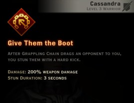 Dragon Age Inquisition - Give Them the Boot Battlemaster warrior skill