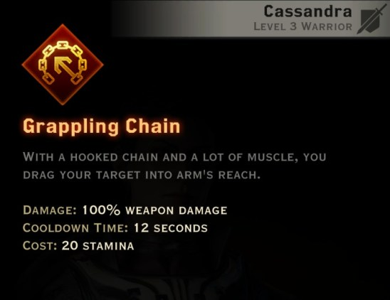 Dragon Age Inquisition - Grappling Chain Battlemaster warrior skill