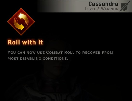 Dragon Age Inquisition - Roll with it Battlemaster warrior skill