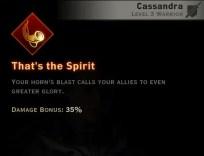 Dragon Age Inquisition - That's the Spirit Battlemaster warrior skill