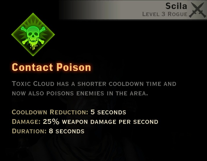 Dragon Age Inquisition - Contact Poison Sabotage rogue skill