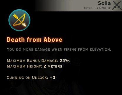 Dragon Age Inquisition - Death From Above Archery rogue skill