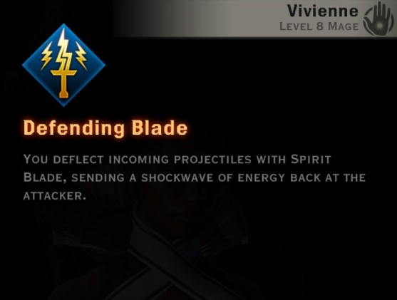 Dragon Age Inquisition - Defending Blade Knight-Enchanter mage skill