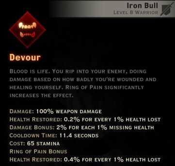 Dragon Age Inquisition - Devour Reaver warrior skill