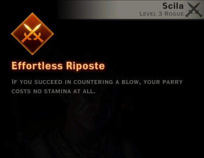 Dragon Age Inquisition - Efortless Riposte Double Daggers rogue skill