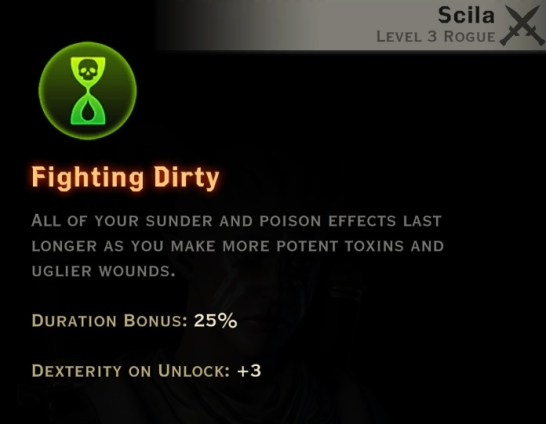 Dragon Age Inquisition - Fighting Dirty Sabotage rogue skill