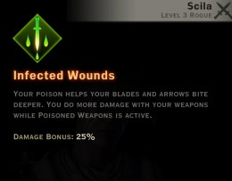 Dragon Age Inquisition - Infected Wounds Sabotage rogue skill