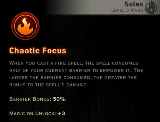 Dragon Age Inquisition - Chaotic Focus Inferno mage skill