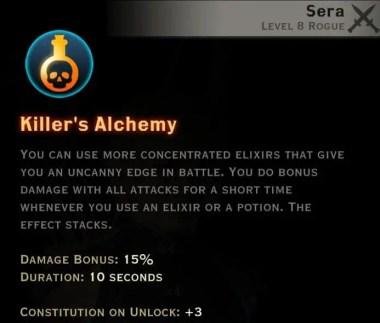 Dragon Age Inquisition - Killer's Alchemy Tempest rogue skill
