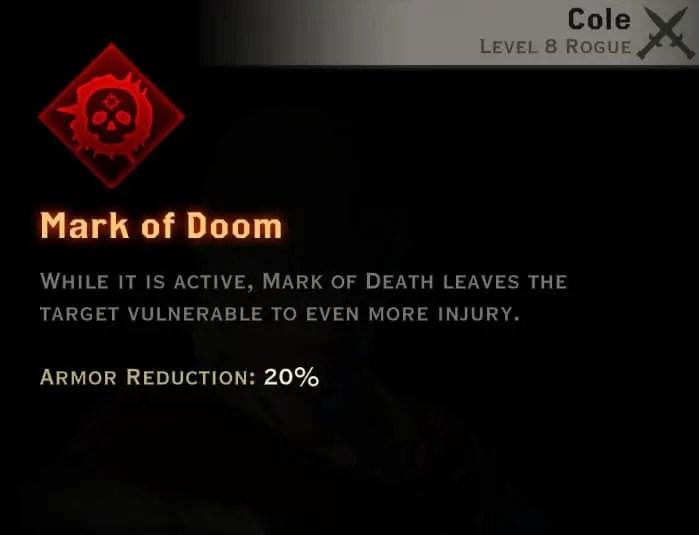 Dragon Age Inquisition - Mark of Doom Assassin rogue skill