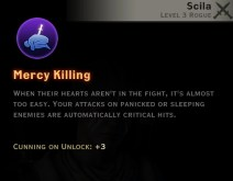 Dragon Age Inquisition - Mercy Killing Subterfuge rogue skill