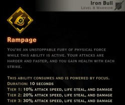 Dragon Age Inquisition - Rampage Reaver warrior skill