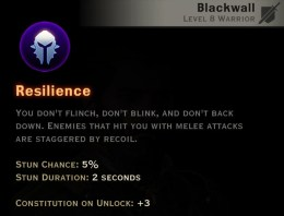 Dragon Age Inquisition - Resilience Champion warrior skill