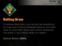 Dragon Age Inquisition - Rolling Draw Archery rogue skill
