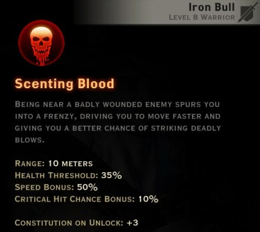 Dragon Age Inquisition - Scenting Blood Reaver warrior skill