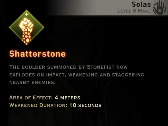 Dragon Age Inquisition - Shatterstone Rift mage skill