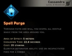 Dragon Age Inquisition - Spell Purge Templar warrior skill