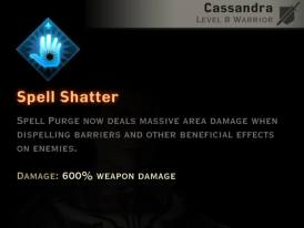 Dragon Age Inquisition - Spell Shatter Templar warrior skill